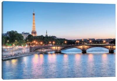 Twilight On The Seine Canvas Print #BLA56
