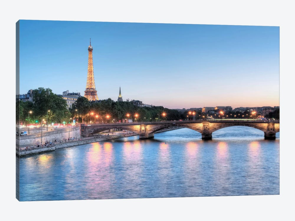 Twilight On The Seine by Alan Blaustein 1-piece Art Print
