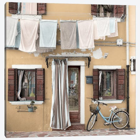 Venetian Bicicletta I Canvas Print #BLA57} by Alan Blaustein Canvas Artwork