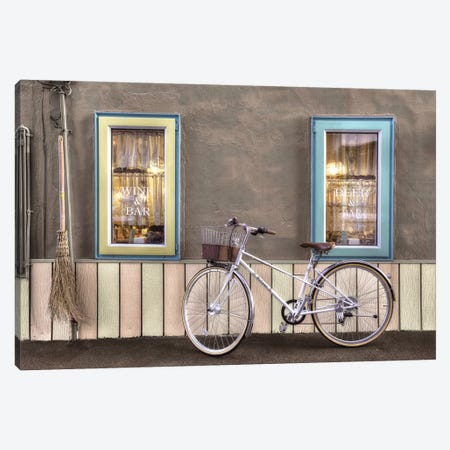 Café Bike Ride Canvas Print #BLA62} by Alan Blaustein Canvas Art