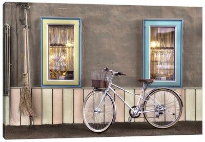 Café Bike Ride Canvas Art Print