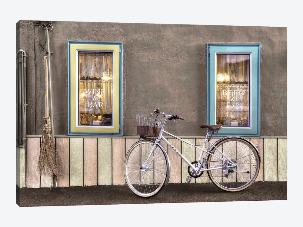 Café Bike Ride by Alan Blaustein 1-piece Canvas Artwork