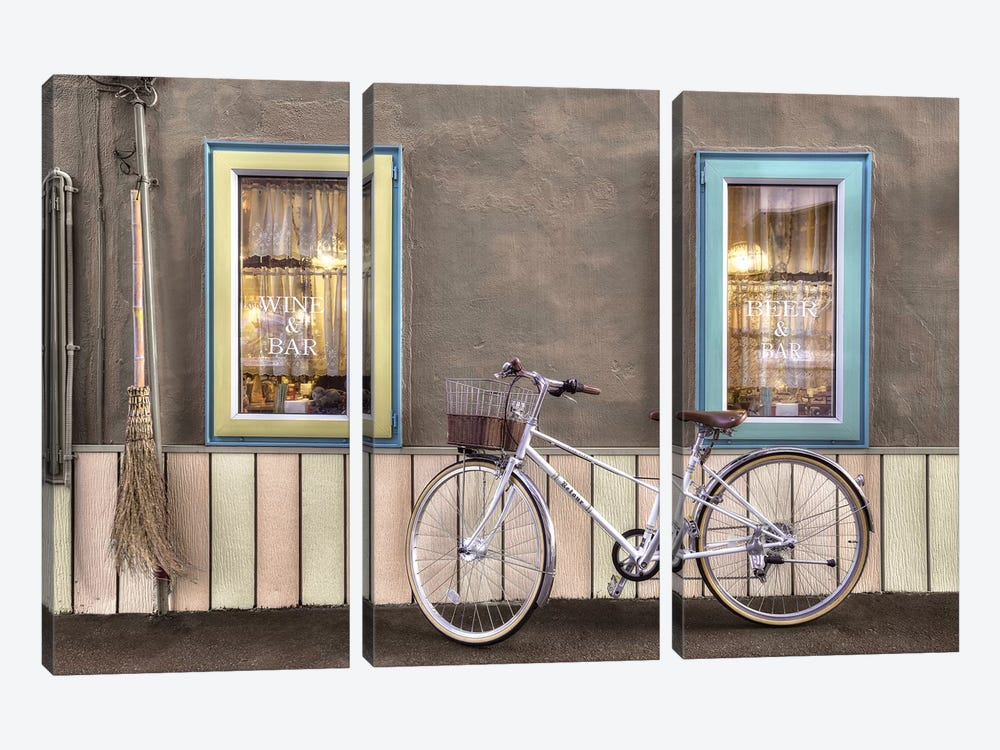 Café Bike Ride by Alan Blaustein 3-piece Canvas Art