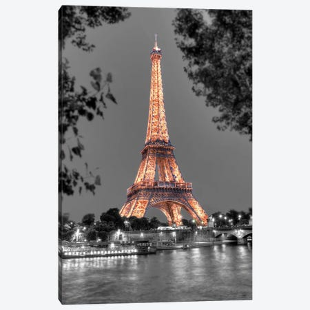 Nuit Sur la Seine Canvas Print #BLA63} by Alan Blaustein Canvas Wall Art