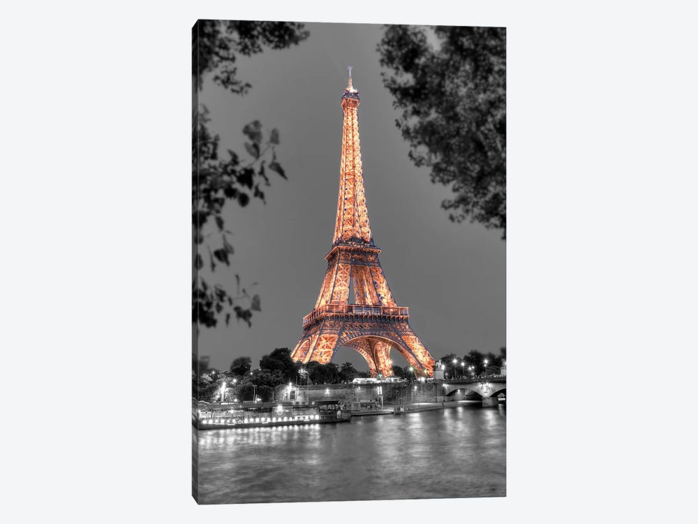 Nuit Sur la Seine by Alan Blaustein 1-piece Canvas Art Print