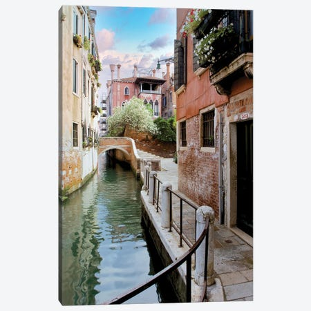 Venetian Canale VIII Canvas Print #BLA73} by Alan Blaustein Canvas Print