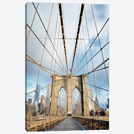 Brooklyn Bridge Walkway I Canvas Print #BLA9} by Alan Blaustein Canvas Print