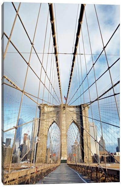 Brooklyn Bridge Walkway I Canvas Art Print