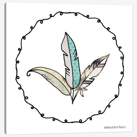 Whimsical Boho Feathers Knotted Frame Canvas Print #BLB110} by Bluebird Barn Canvas Art