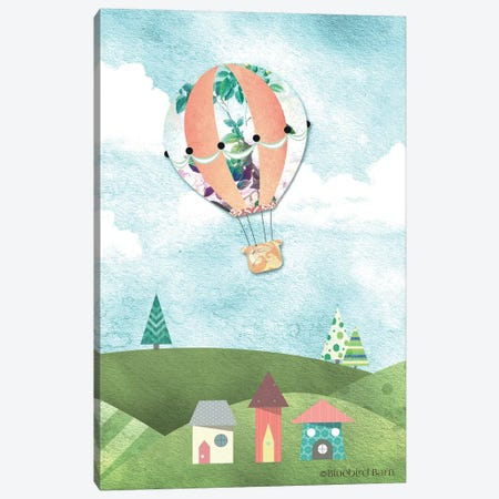 Whimsical Leafy Green Hot Air Balloon Canvas Print #BLB115} by Bluebird Barn Canvas Art Print