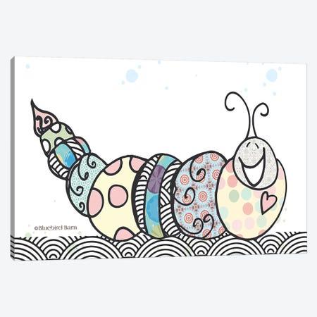 Whimsical Smiley Garden Caterpillar Canvas Print #BLB120} by Bluebird Barn Canvas Print