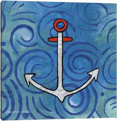 Whimsy Coastal Anchor Canvas Art Print