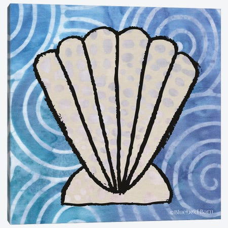Whimsy Coastal Clam Shell Canvas Print #BLB127} by Bluebird Barn Canvas Art