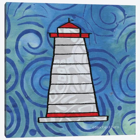 Whimsy Coastal Conch Lighthouse Canvas Print #BLB129} by Bluebird Barn Canvas Print