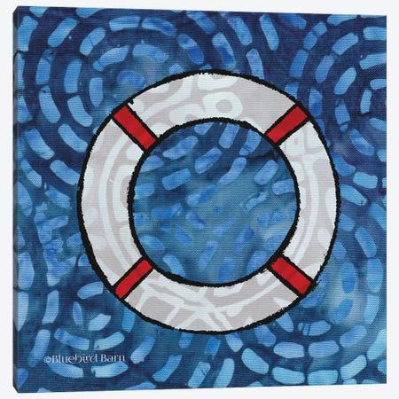 Whimsy Coastal Ring Buoy Canvas Print #BLB132} by Bluebird Barn Canvas Artwork