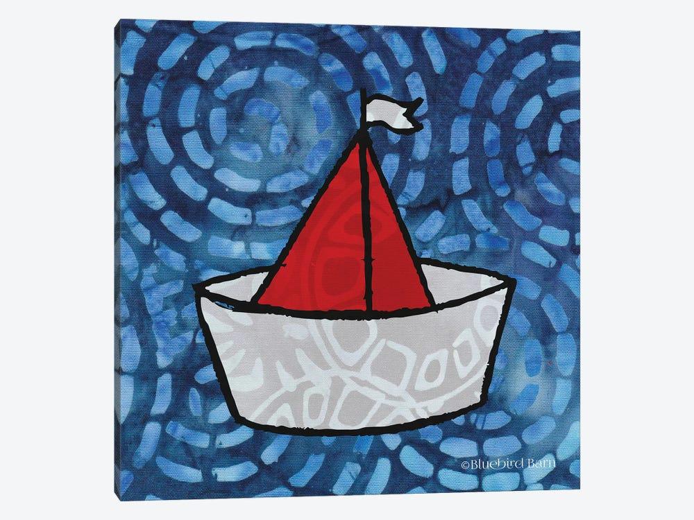 Whimsy Coastal Sailboat by Bluebird Barn 1-piece Canvas Artwork