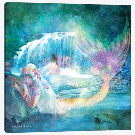 Woodland Cove Mermaid Canvas Print #BLB136} by Bluebird Barn Canvas Print