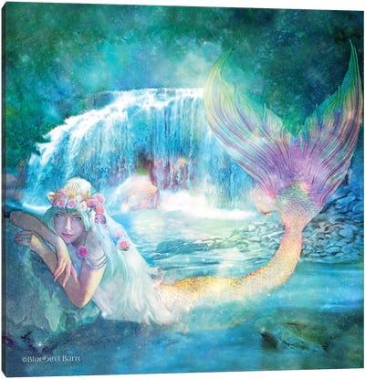 Woodland Cove Mermaid Canvas Art Print