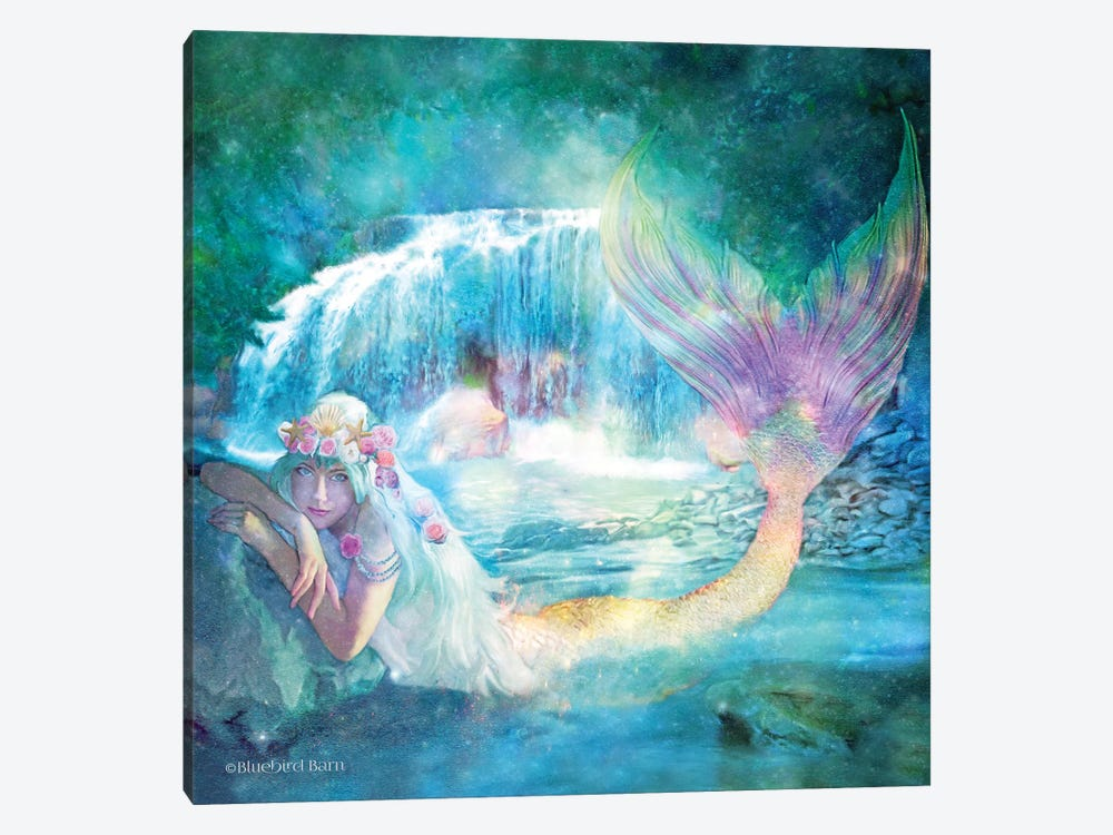 Woodland Cove Mermaid by Bluebird Barn 1-piece Canvas Art Print