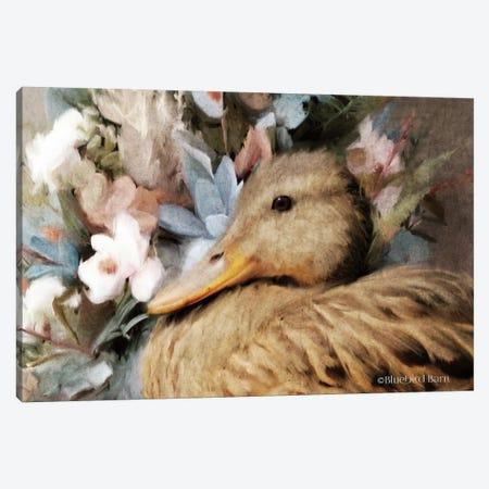 Woodland Duck Floral Portrait Canvas Print #BLB137} by Bluebird Barn Canvas Print