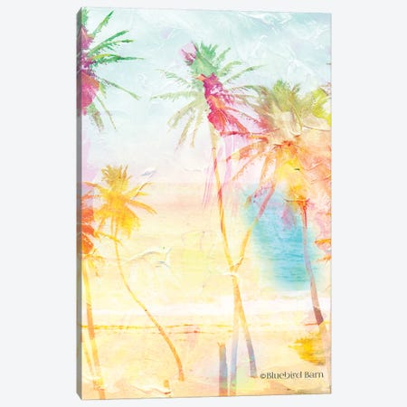 Bright Summer Palm Group I Canvas Print #BLB13} by Bluebird Barn Canvas Art