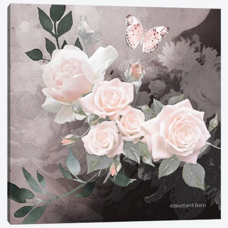 Noir Roses I Canvas Print #BLB140} by Bluebird Barn Art Print