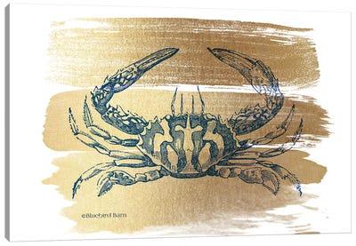 Brushed Gold Crab Canvas Art Print