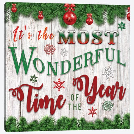 It's the Most Wonderful Time of the Year Canvas Print #BLB150} by Bluebird Barn Canvas Artwork