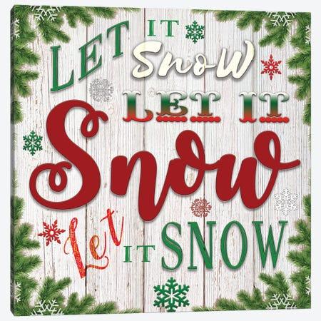 Let It Snow Canvas Print #BLB151} by Bluebird Barn Canvas Artwork