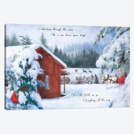 Dashing Through the Snow Canvas Print #BLB159} by Bluebird Barn Canvas Artwork