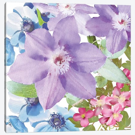 Clematis I Canvas Print #BLB15} by Bluebird Barn Art Print