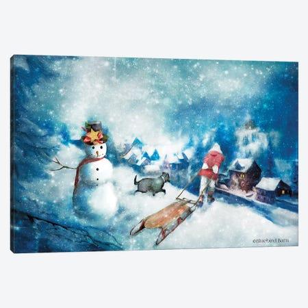 Time for Hot Cocoa Canvas Print #BLB164} by Bluebird Barn Canvas Artwork