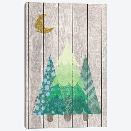 Whimsical Trees Under the Moon Canvas Print #BLB169} by Bluebird Barn Canvas Art Print