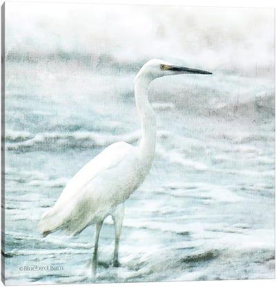Coastal Heron Canvas Art Print