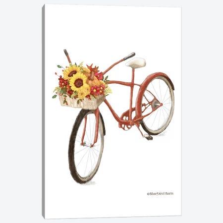 Fall Bike Canvas Print #BLB178} by Bluebird Barn Canvas Wall Art