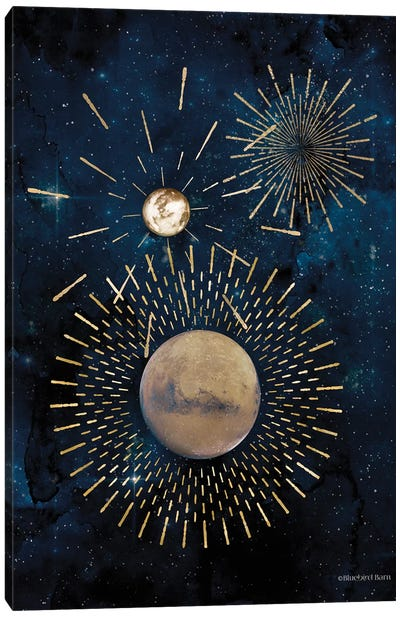 Gold Celestial Rays III Canvas Art Print