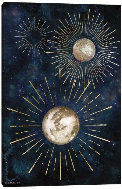 Gold Celestial Rays IV Canvas Art Print