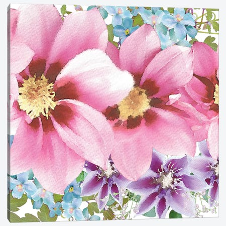 Clematis IV Canvas Print #BLB18} by Bluebird Barn Canvas Wall Art