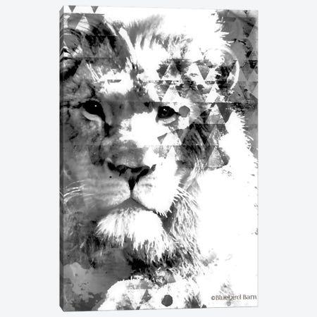 Modern Black & White Lion Canvas Print #BLB190} by Bluebird Barn Canvas Art