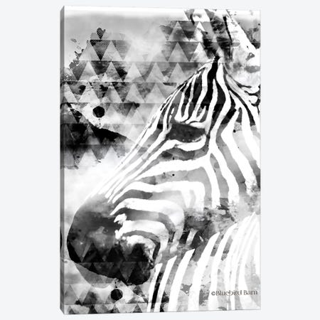 Modern Black & White Zebra      Canvas Print #BLB192} by Bluebird Barn Canvas Artwork