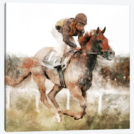 Number One Rider   Canvas Print #BLB193} by Bluebird Barn Canvas Artwork