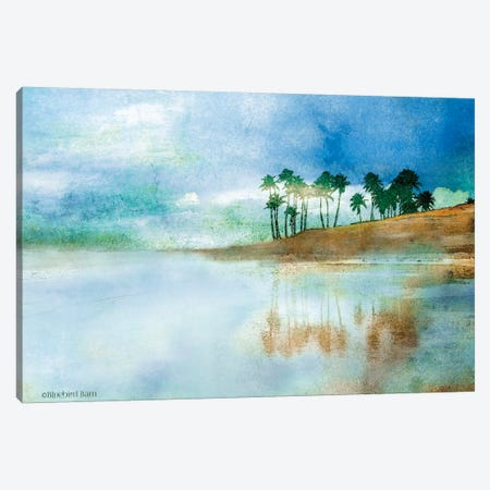 Palm Coast Beach Canvas Print #BLB197} by Bluebird Barn Canvas Print