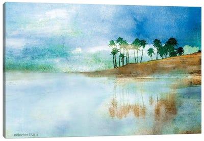 Palm Coast Beach Canvas Art Print