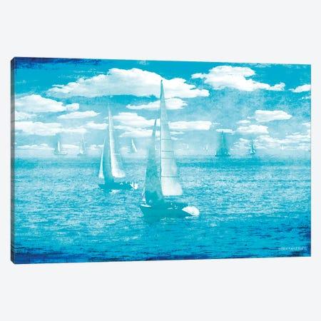 Sailboat Vista Canvas Print #BLB199} by Bluebird Barn Canvas Artwork