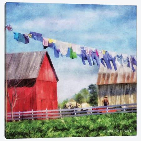Clothesline Farm Canvas Print #BLB19} by Bluebird Barn Canvas Artwork