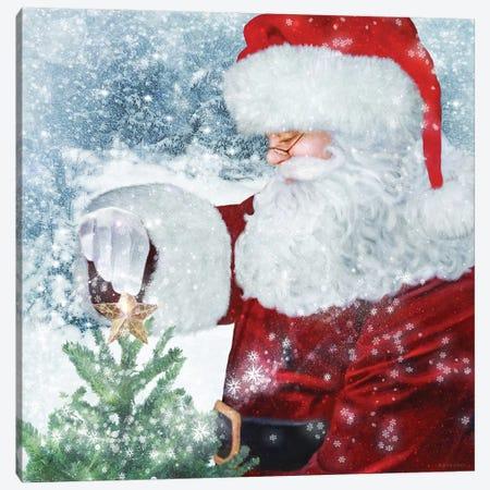 Santa Tree Star Canvas Print #BLB202} by Bluebird Barn Canvas Wall Art