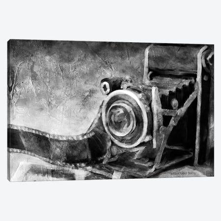 Vintage Camera Black and White   Canvas Print #BLB205} by Bluebird Barn Art Print