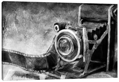 Vintage Camera Black and White   Canvas Art Print