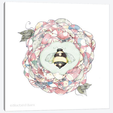 Whimsical Bumblebee     Canvas Print #BLB209} by Bluebird Barn Canvas Art