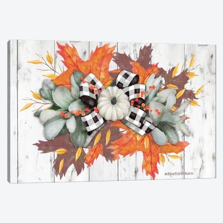 White Pumpkin Swag Canvas Print #BLB211} by Bluebird Barn Canvas Print